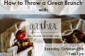 """Image: The Chattery presents """"How to Throw a Great Brunch"""""""