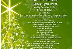 Image: Skin + Brow Room Holiday Open House