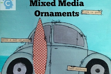 Image: The Chattery: Mixed Media Ornaments