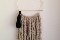 Image: The Chattery's Not Your Mother's Macrame: DIY Modern Wall Hanging